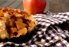 Danish pastry. Apple pie Royalty Free Stock Image