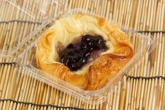 Danish pastry with blueberries jam Stock Image