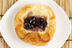 Danish pastry with blueberries jam Royalty Free Stock Image