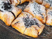 Danish pastry with blueberry jam filling Stock Photography