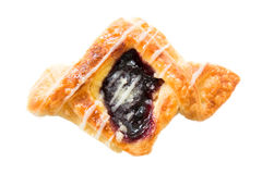 Danish pastry with blueberry Stock Image