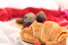 Danish pastry for Christmas breakfast Royalty Free Stock Photos