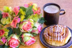 Danish Pastry and Coffee Royalty Free Stock Photo