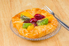 Danish pastry with fruits Stock Photo