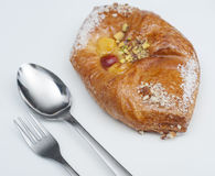 Danish pastry on a plate Stock Image