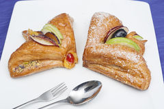 Danish pastry on a plate Royalty Free Stock Photography