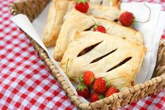 Danish pastry pockets or mini pies Royalty Free Stock Image