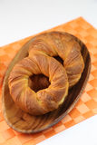 Danish pastry. It is ring-formed danish pastry Stock Photography