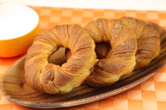 Danish pastry. It is ring-formed danish pastry Royalty Free Stock Images