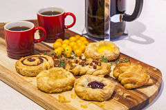 Danish Pastry Selection Royalty Free Stock Image