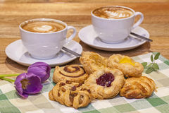 Danish Pastry Selection Stock Photography