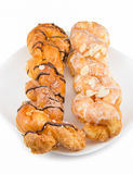 Danish pastry twist on dish Royalty Free Stock Image