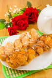 Danish pastry twist on tabletop Royalty Free Stock Images