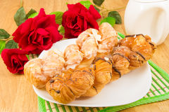 Danish pastry twist on tabletop Stock Image