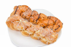 Danish pastry twist Royalty Free Stock Images