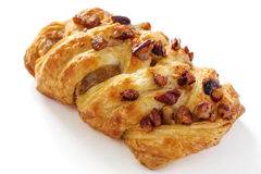 Danish pasty with pecan nuts Stock Photos