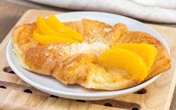 Danish peach pie Royalty Free Stock Photos