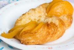 Danish Peach pie Royalty Free Stock Image