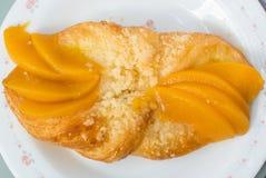 Danish Peach pie Stock Photography