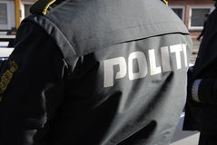 DANISH POLICE IN ACTION Royalty Free Stock Photography