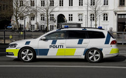 DANISH POLICE AUTO Royalty Free Stock Photos