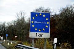 DANISH POLICE ON BORDER CONTROL_ KRUSAA. Krusaa/krus� / Denmark/Germany_ Danish police at Danish _germany border control in othr words passport control whih royalty free stock photography