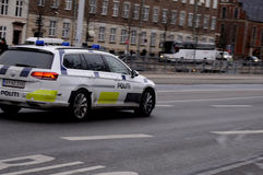 Danish police car Royalty Free Stock Photos