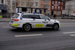 Danish police car Stock Photo