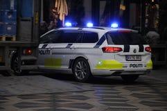 Danish police car_politi bil Royalty Free Stock Image