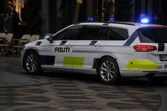 Danish police car_politi bil Stock Photos