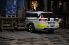 Danish police car_politi bil Royalty Free Stock Images