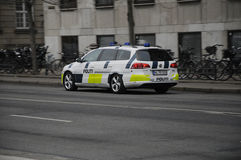DANISH POLICE CONTROL CHRISTMAS MARKET Royalty Free Stock Image