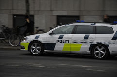 DANISH POLICE CONTROL CHRISTMAS MARKET Stock Photos