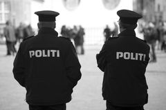 Danish Police Officers Mono Stock Photos