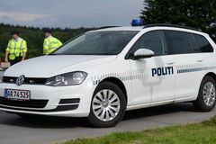 Danish Police royalty free stock photography