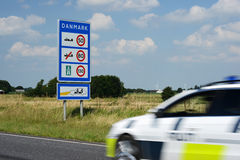 Danish Police. Photo with Danish police car stock images