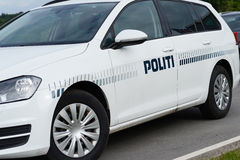 Danish Police. Photo with Danish police car royalty free stock photography
