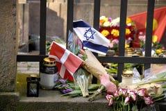 DANISH POLICE PRESENTS AT JEWS SYNAGOGUE Stock Photos