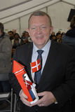 DANISH PRIME MINISTERS AND _CITIZENSHIP CELEBRATION Royalty Free Stock Photo