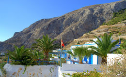 Danish property in Kamari,Santorini Royalty Free Stock Photo