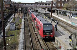 DANISH PUBLIC TRABNSPORT. COPENHAGEN /DENMARK- DSB is danish state own public transport system         04 April 2014  (Photo by Francis  Dean/Deanpictures Royalty Free Stock Image
