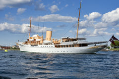Danish Queens Naval Yacht Royalty Free Stock Photography