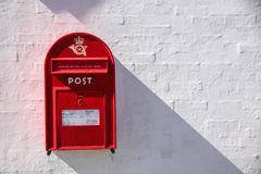 Danish red mailbox Royalty Free Stock Photos