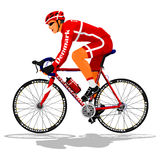 Danish road cyclist royalty free illustration