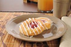 Danish rolls with raspberry filling Stock Photo