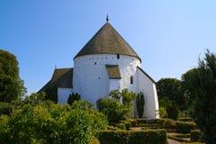 Danish round church Stock Photo