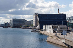 Danish royal Bliothek. Danish Royal Library at the channel to Copenhagen harbor Stock Photography