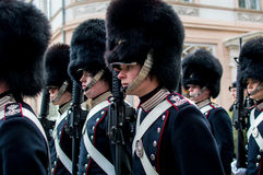 The Danish royal guard Royalty Free Stock Photo