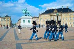 Danish Royal Guard marching royalty free stock photo