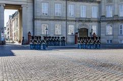 Danish Royal Guards at Amalienborg Palace in Copenhagen Royalty Free Stock Photos
